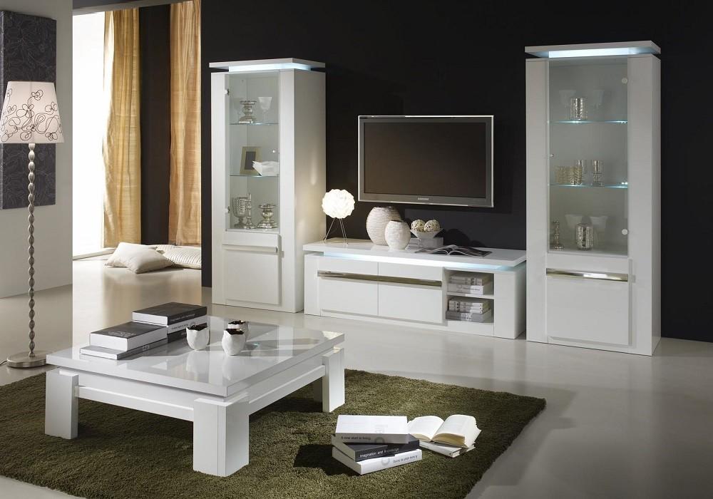 ensemble meuble tv laque blanc riva