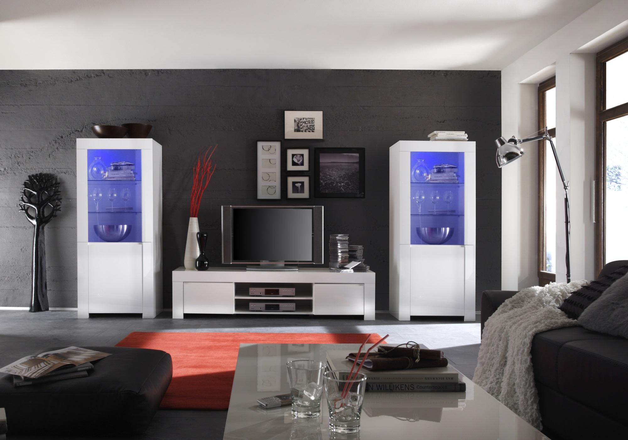 ensemble meuble tv laque blanc amalfi i