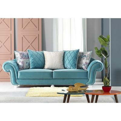 canape velours turquoise luxury