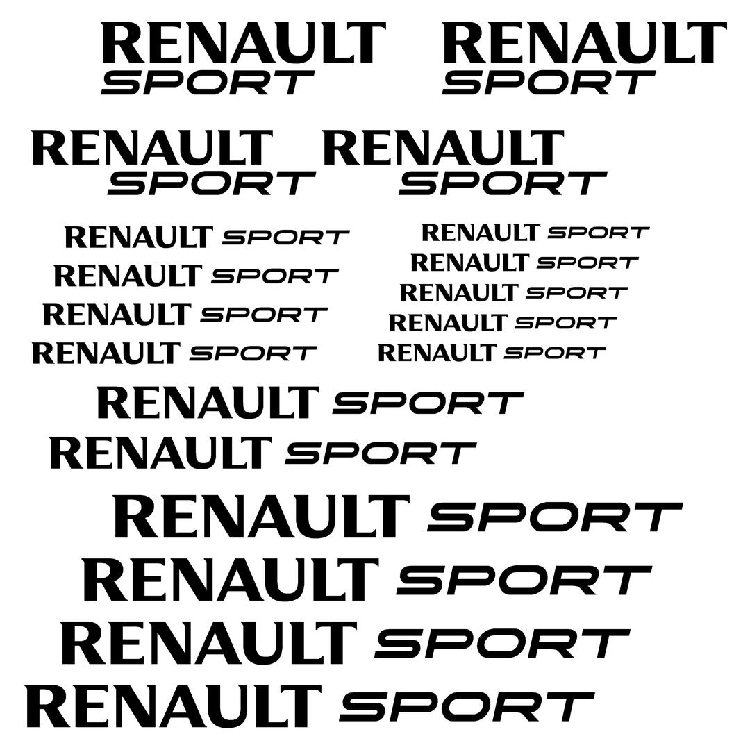 Stickers Renault Sport Ref 1