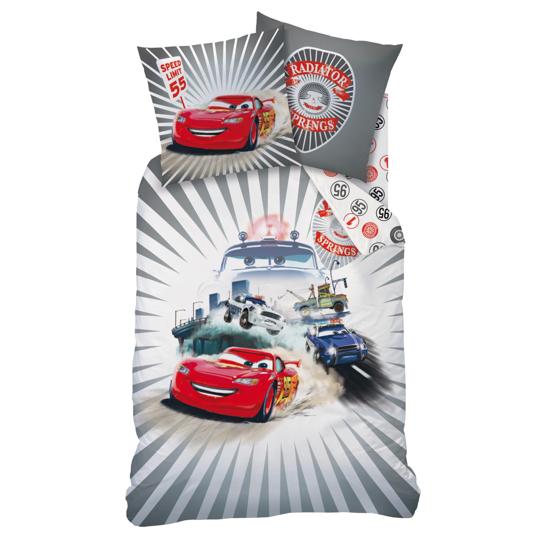 Parure De Lit CARS Housse De Couette 140 X 200 Cm