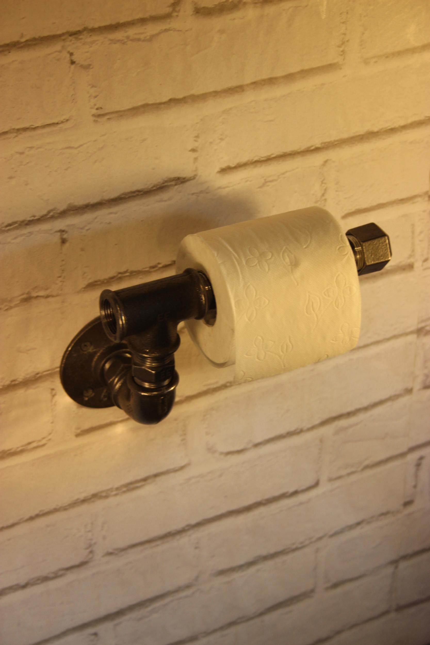 derouleur papier toilette simple en t