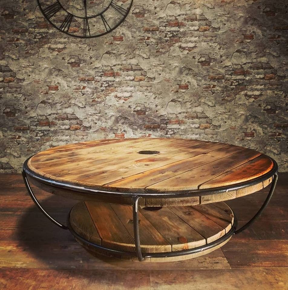 table basse ronde muselet