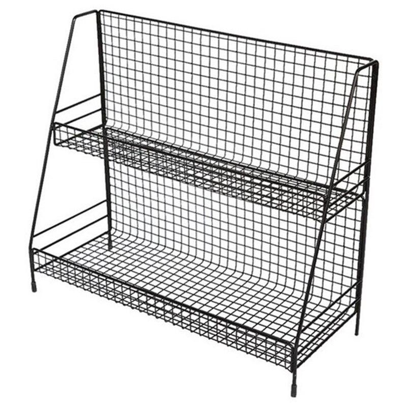 etagere double en metal filaire