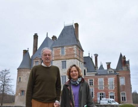 le château de la Bussière Bertrand et Laurette Bommelaer