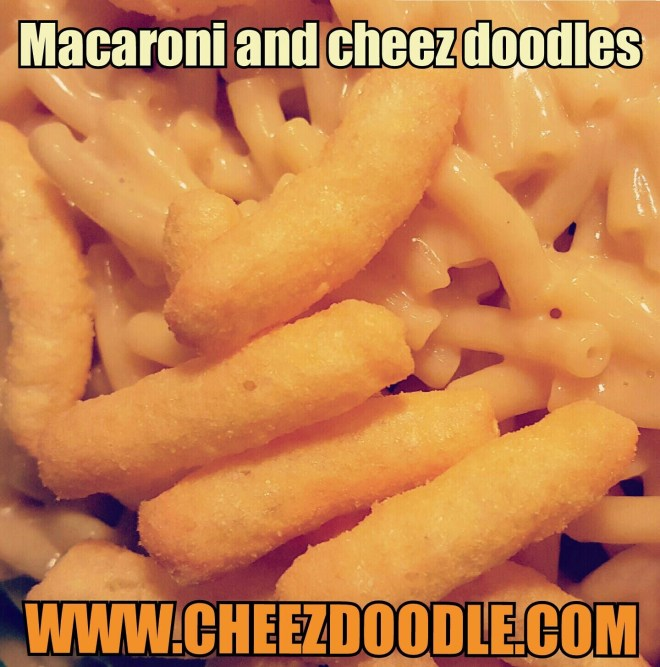 Maccaroni and cheez doodles