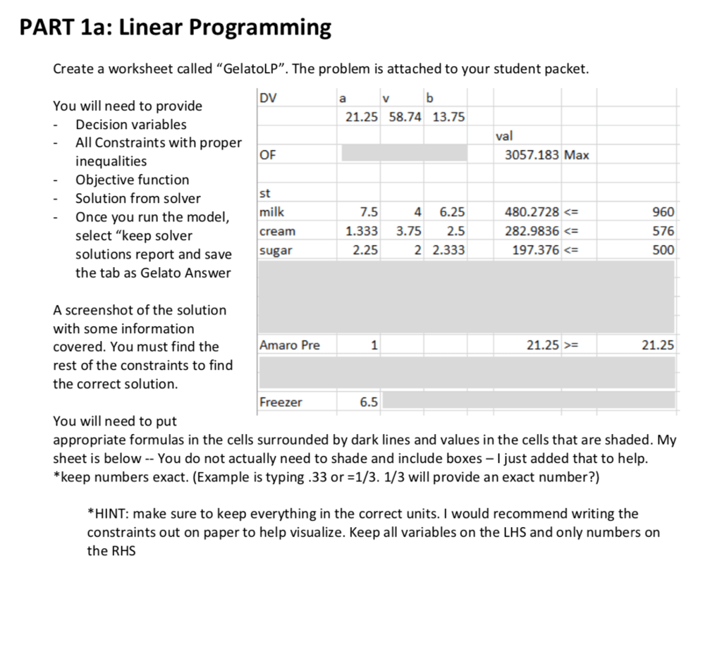 Linear Programming Worksheet With Answers
