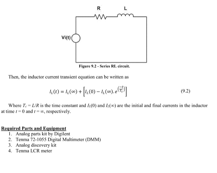 Solved: Transient Response Of RC And RL Circuits Objective
