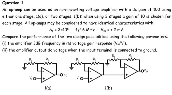 Solved: An Op-amp Can Be Used As An Non-inverting Voltage