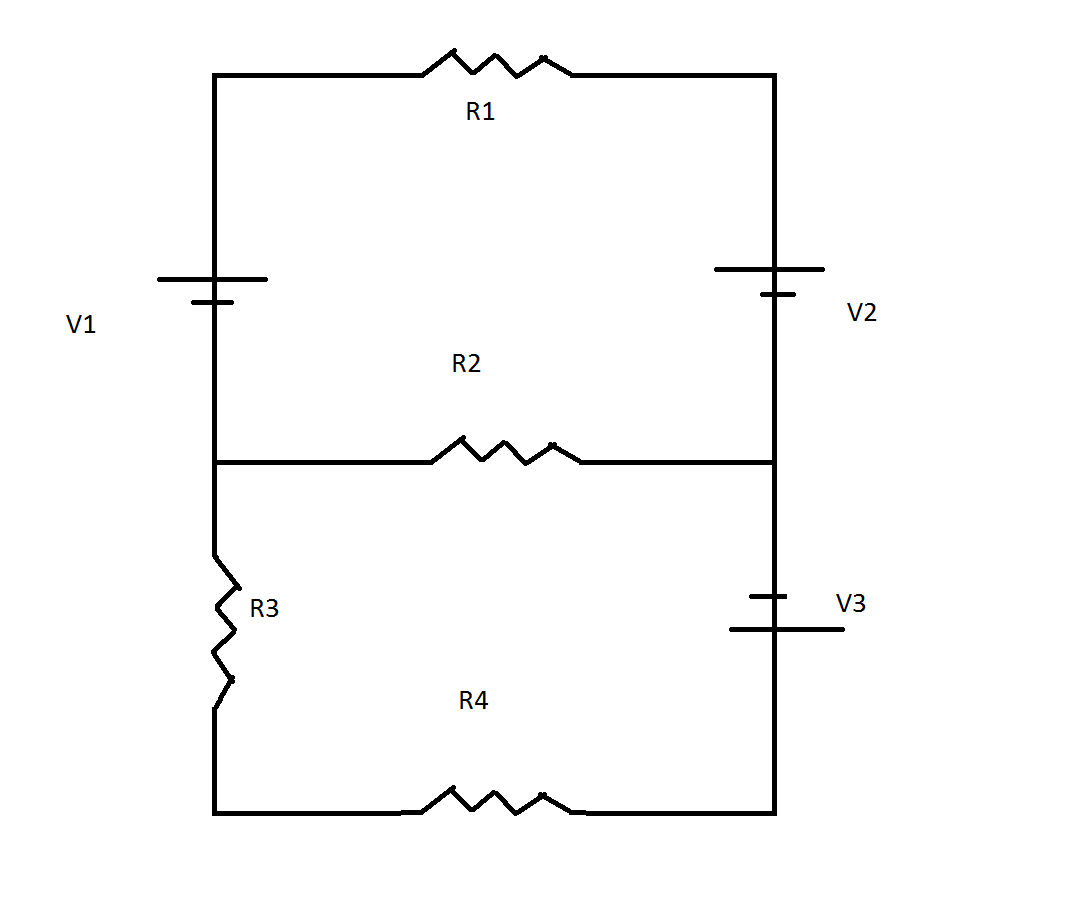 Draw And Label The Three Currents Of This Circuit
