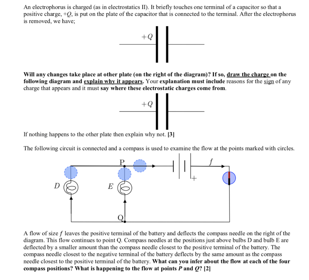 Solved An Electrophorus Is Charged As In Electrostatics
