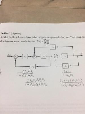 Solved: Simplify The Block Diagram Shown Below Using Block