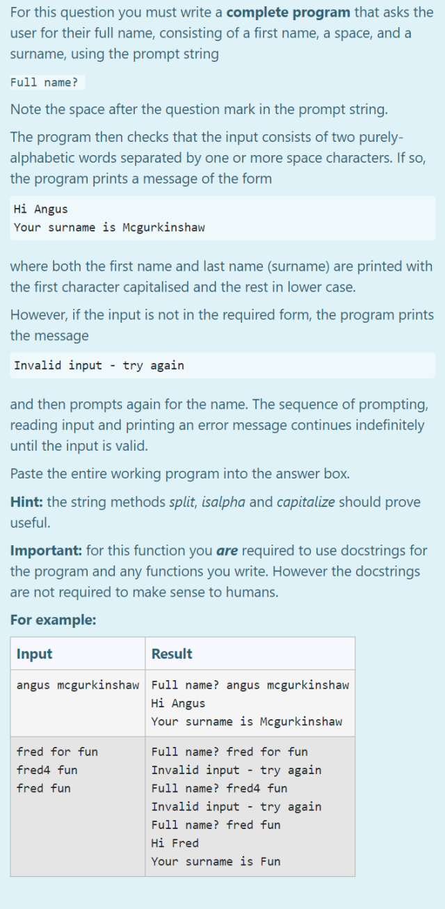 For this question you must write a complete program  Chegg.com