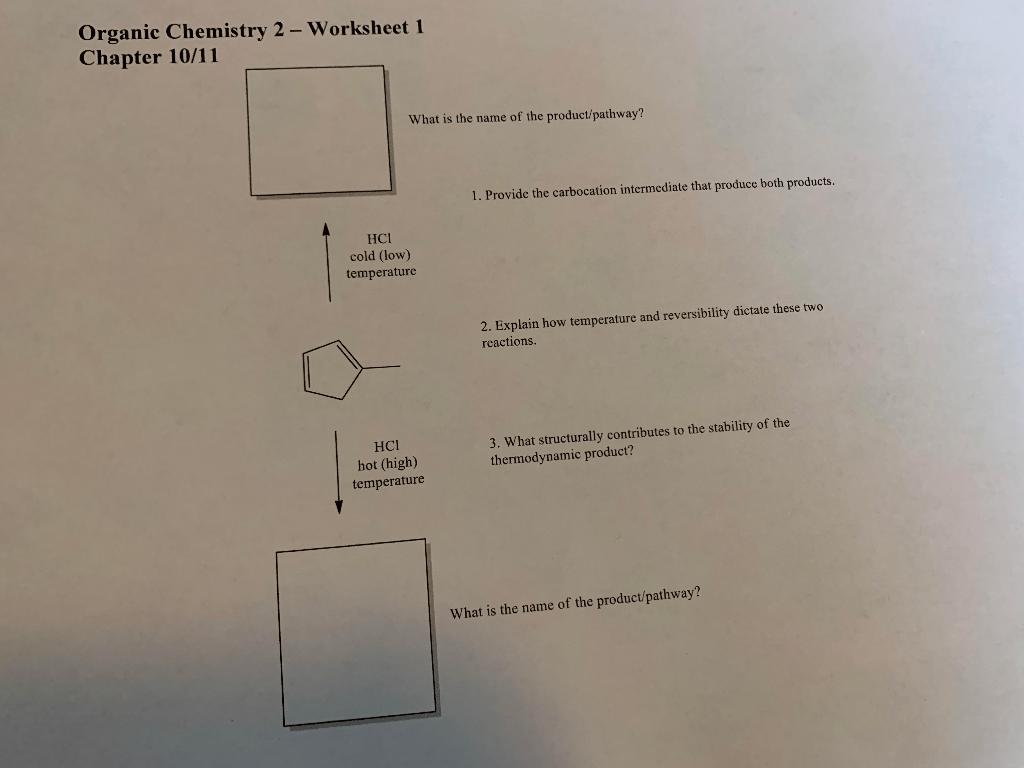 Solved Organic Chemistry 2