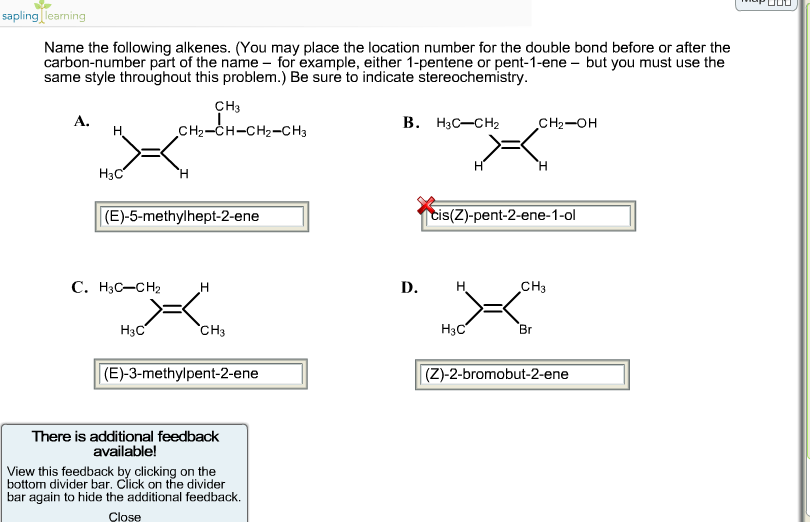Name The Following Alkenes You May Place The