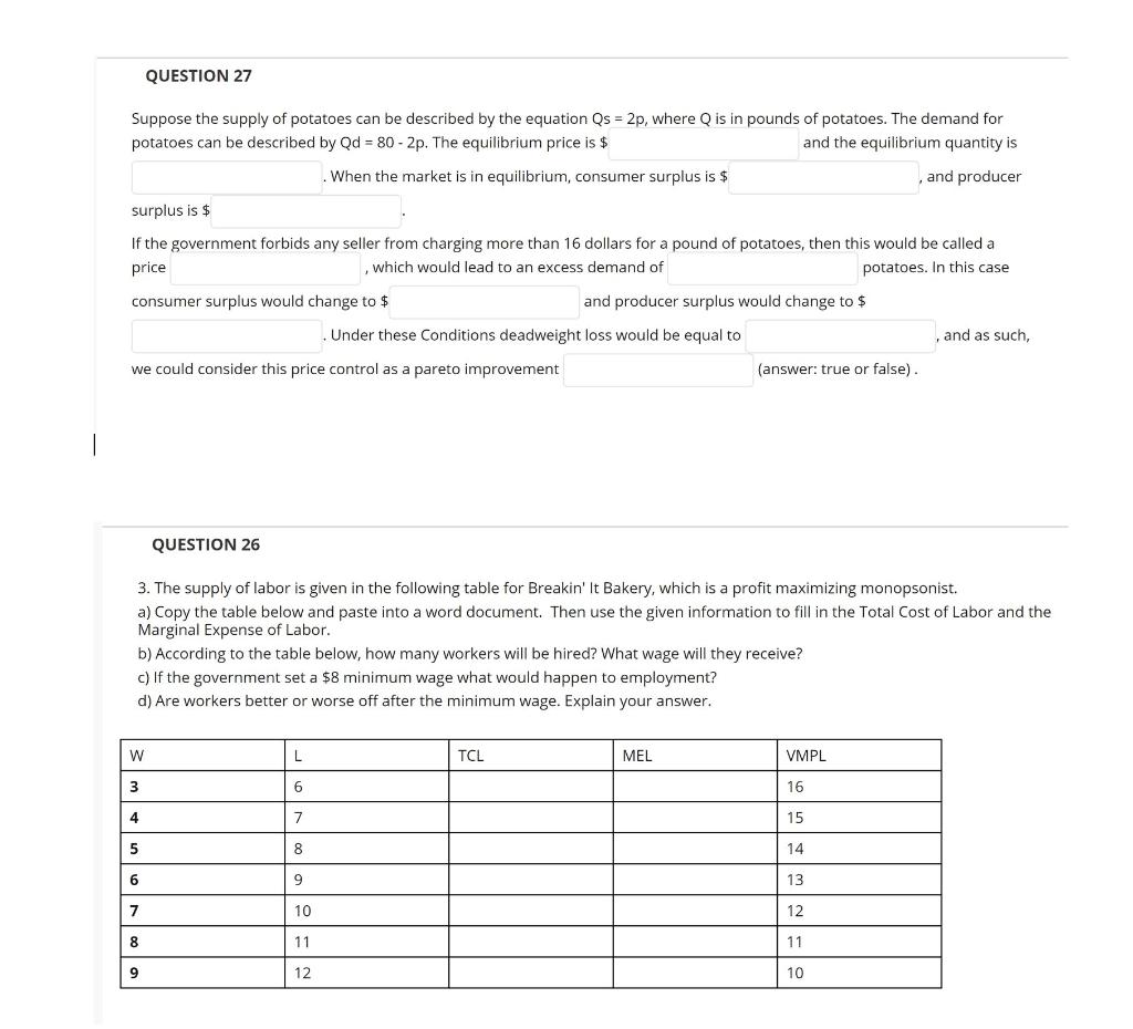 Economics Recent Questions