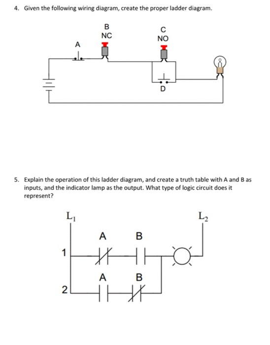 solved 4 given the following wiring diagram create the