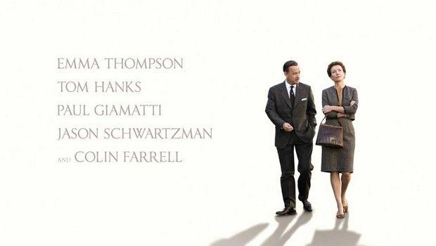 Saving Mr. Banks locandina e foto del film con Tom Hanks ed Emma Thompson