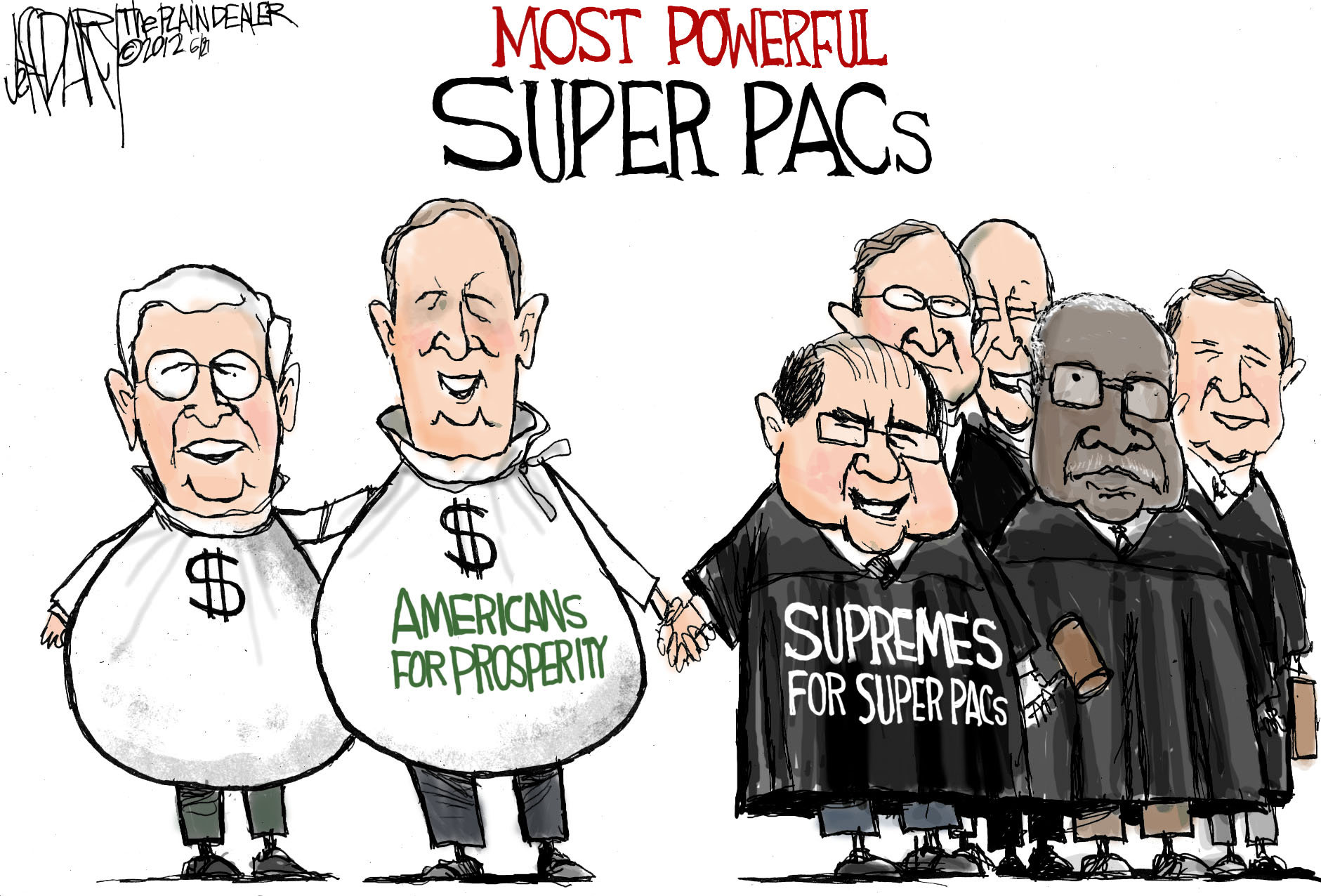 Image result for cartoons about super PAC