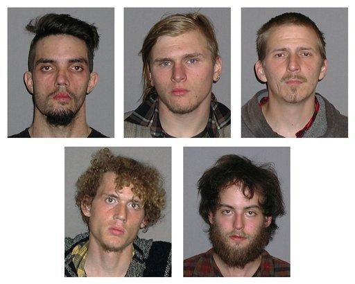 Douglas Wright, Brandon Baxter, Anthony Hayne, Joshua Stafford, Connor Stevens