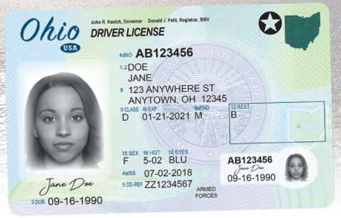 Here Are A Couple Of Sample Driver S Licenses Provided By The Dmv Notice End None Notations