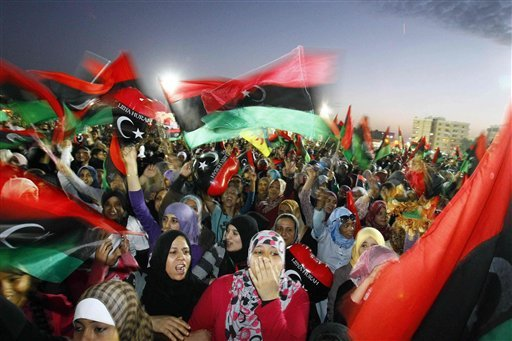 Saha Kish Square celebrations Benghazi Libya