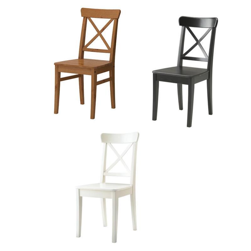 IKEA Stuhl INGOLF Massivholz in drei Farben | eBay