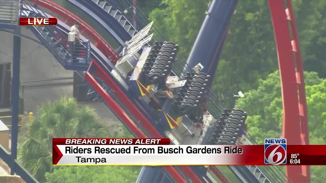 Report Riders Evacuated Off Sheikra Roller Coaster At