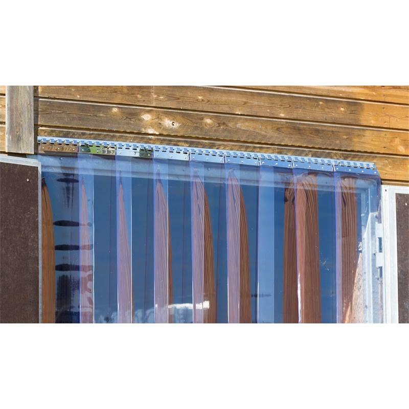 kit pour rideau a lamelles en pvc largeur 130 cm protection contre le froid et les courants d air pour l etable le paddock et les halls