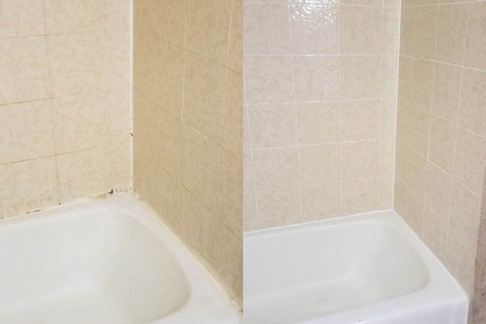 shower tile regrouting services in