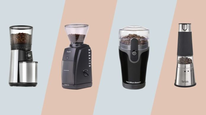 Oxo Brew Conical Burr Coffee Grinder, Baratza Encore Conical Burr Coffee Grinder, Hamilton Beach Fresh Grind Electric Coffee Grinder, Brim Electric Handheld Burr Grinder