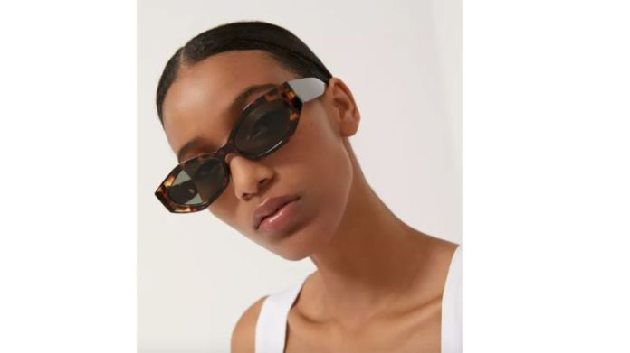 Aster Chunky Rectangle Sunglasses