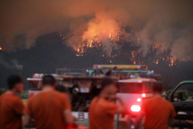 The Dixie Fire burns near Taylorsville, California, on July 29.