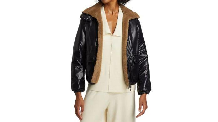 Moncler Adoxe प्रतिवर्ती ऊन और नायलॉन जैकेट