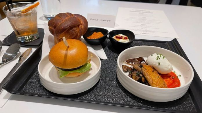 A terrific meal — especially in an airport