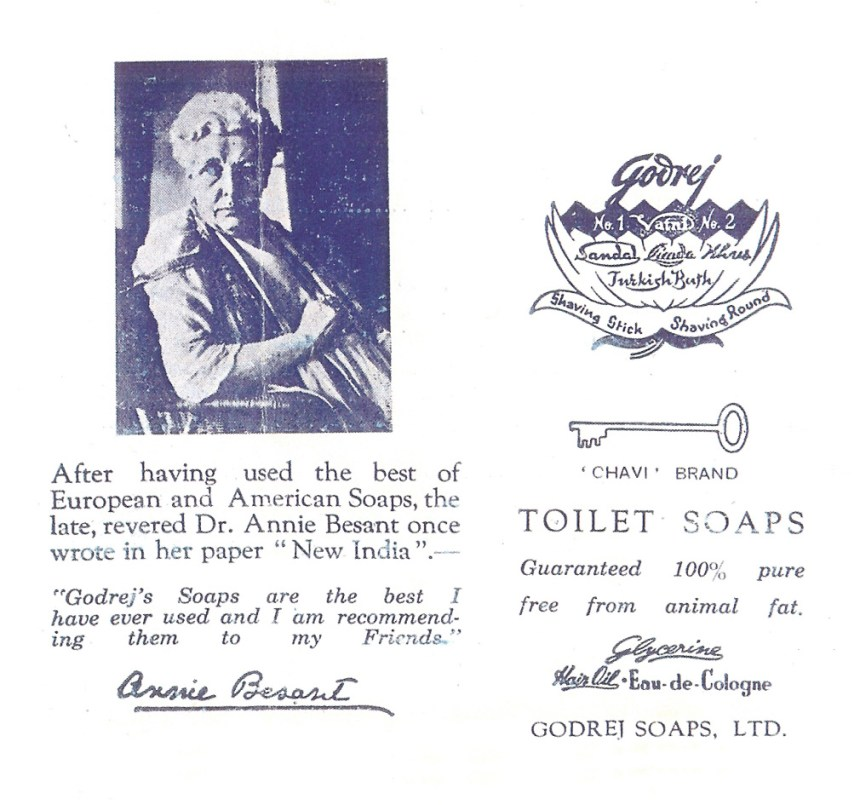 Dr Annie Besant's endorsement