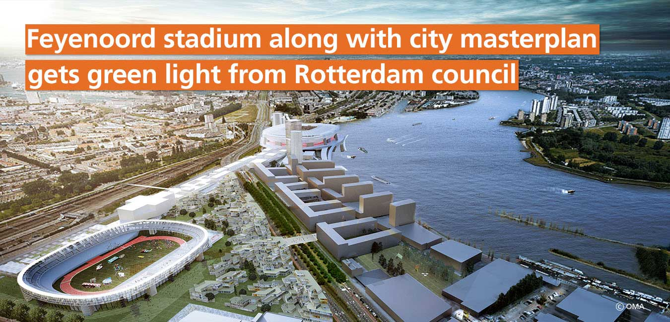 feyenoord stadium along with city