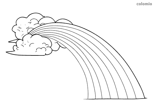 Rainbow Coloring Pages Free Printable Rainbow Coloring Sheets