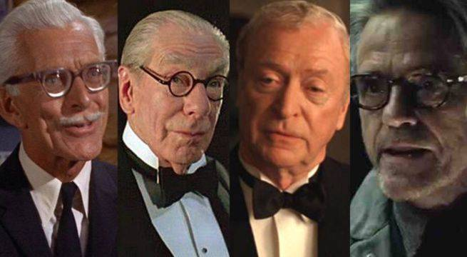 Image result for alfred in batman movies