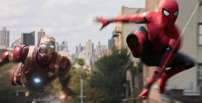 Image result for spiderman with iron man movie