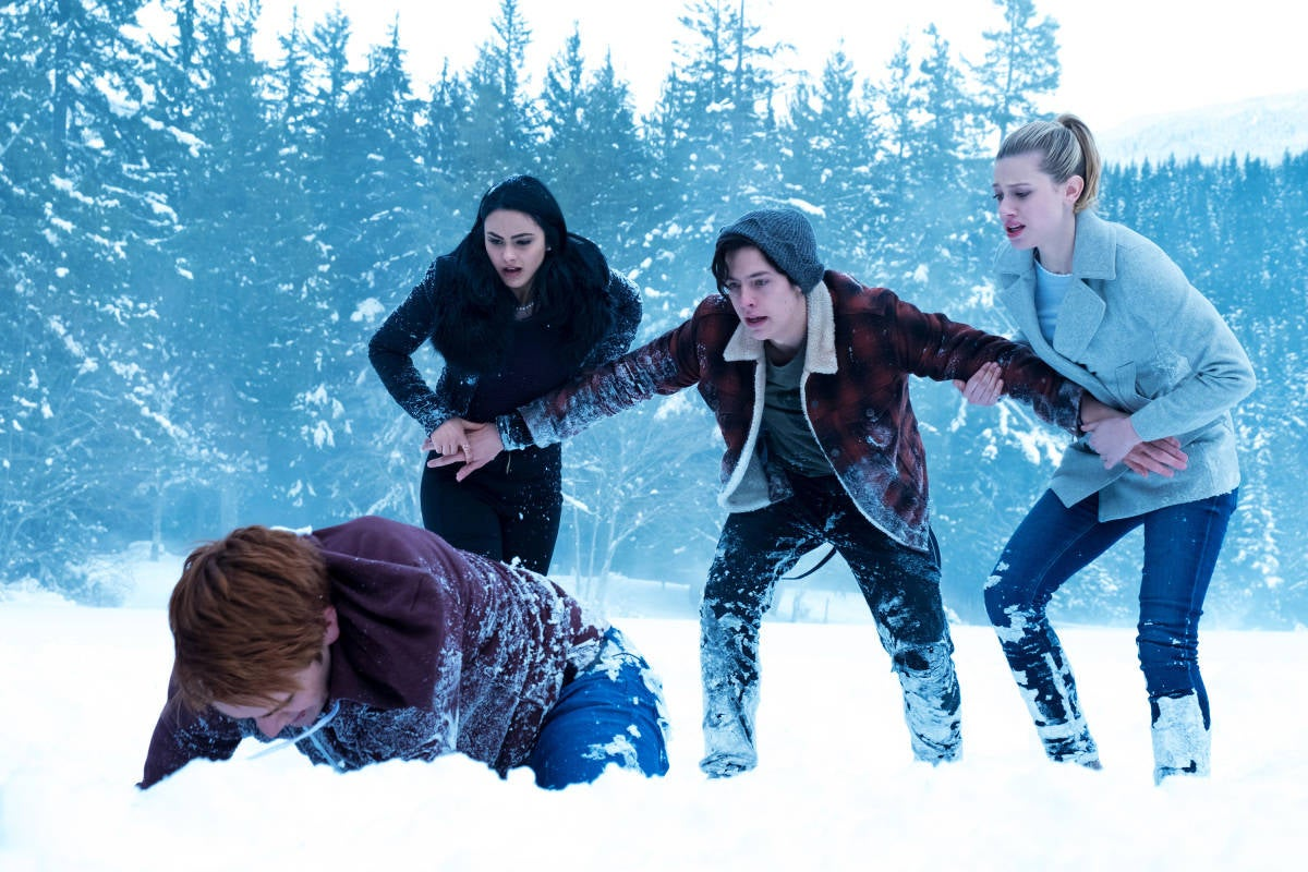 Image result for riverdale punching ice