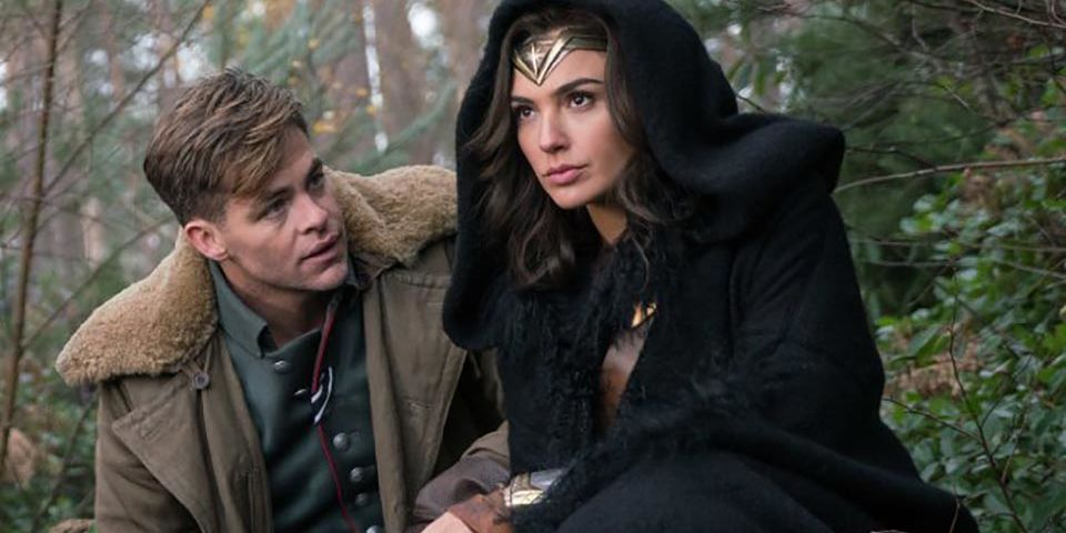 Image result for wonder woman and steve trevor