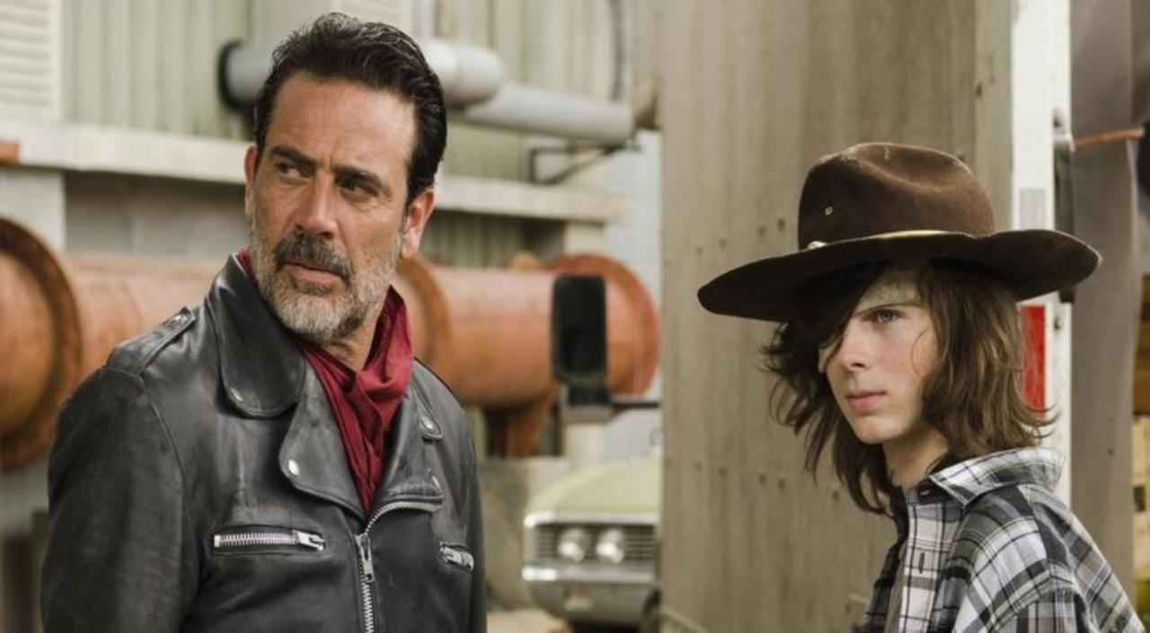 Image result for the walking dead carl and negan