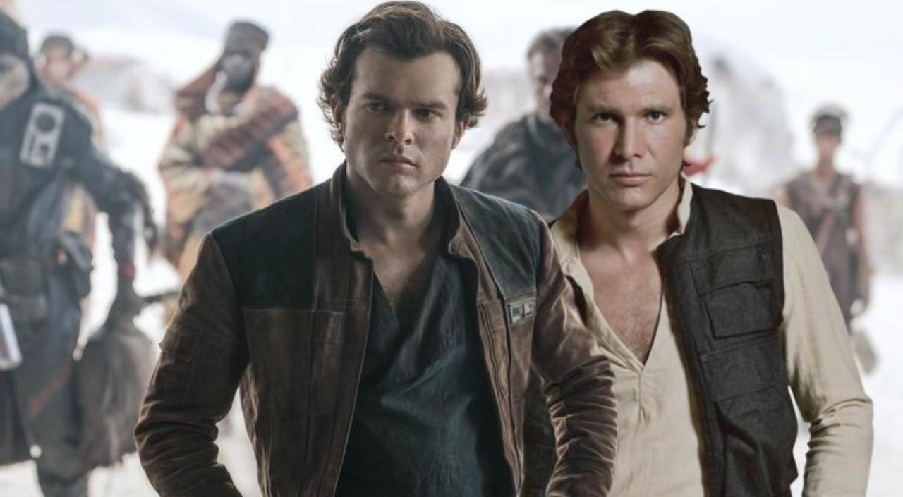 Image result for new han solo compared to old han solo