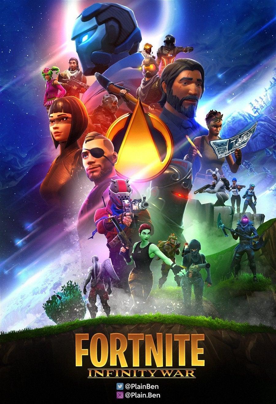 This Avengers Infinity War Inspired Fortnite Fan Poster