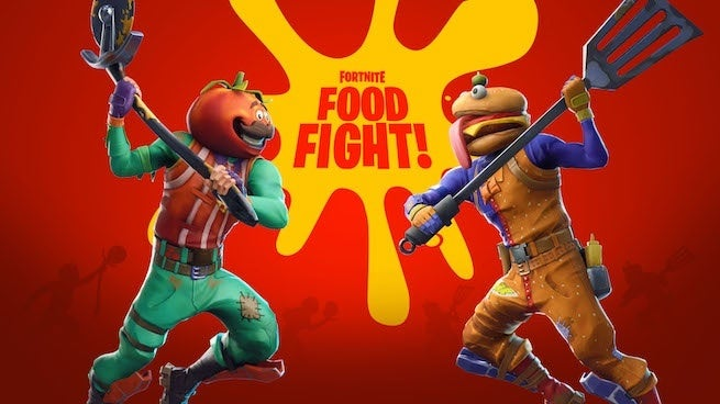 Fortnite Player Gets Past The Wall In Food Fight LTM