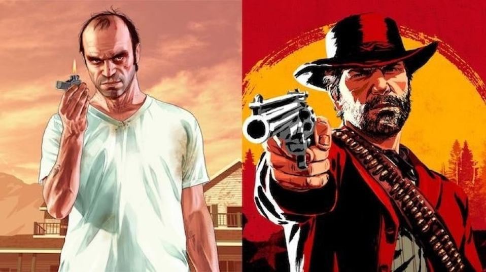 Image result for gta 5 red dead redemption 2