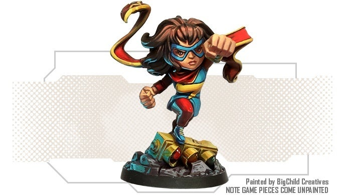 Marvel-United-Ms-Marvel-Painted-Game-Piece
