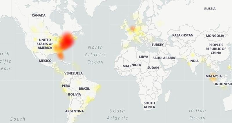 netflix downdetector map