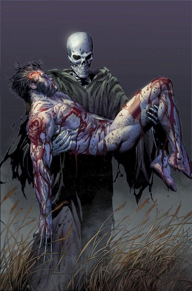 Wolverine in the hands of Death